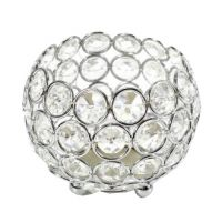 Bougeoir rond cristal argent