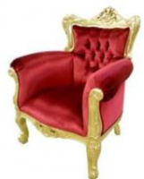 Fauteuil Barroco rouge et or