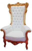 Fauteuil Royal Haut à moulure Or